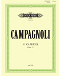 Campagnoli 41 Caprices, Op. 22 for Viola