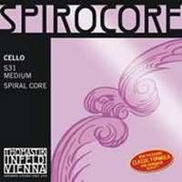 Spirocore Cello D String - Chrome
